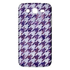 Houndstooth1 White Marble & Purple Marble Samsung Galaxy Mega 5 8 I9152 Hardshell Case  by trendistuff