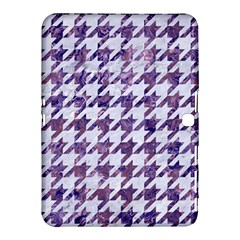 Houndstooth1 White Marble & Purple Marble Samsung Galaxy Tab 4 (10 1 ) Hardshell Case  by trendistuff