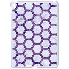 Hexagon2 White Marble & Purple Marble (r) Apple Ipad Pro 9 7   White Seamless Case by trendistuff