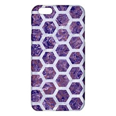 Hexagon2 White Marble & Purple Marble Iphone 6 Plus/6s Plus Tpu Case by trendistuff