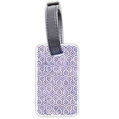 Hexagon1 White Marble & Purple Marble (r) Luggage Tags (one Side)  by trendistuff
