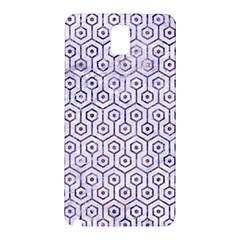 Hexagon1 White Marble & Purple Marble (r) Samsung Galaxy Note 3 N9005 Hardshell Back Case
