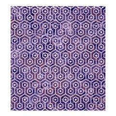 Hexagon1 White Marble & Purple Marble Shower Curtain 66  X 72  (large)  by trendistuff