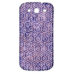 Hexagon1 White Marble & Purple Marble Samsung Galaxy S3 S Iii Classic Hardshell Back Case by trendistuff