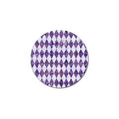 Diamond1 White Marble & Purple Marble Golf Ball Marker (10 Pack) by trendistuff