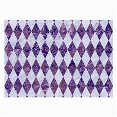 Diamond1 White Marble & Purple Marble Large Glasses Cloth by trendistuff