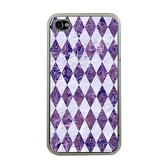 Diamond1 White Marble & Purple Marble Apple Iphone 4 Case (clear) by trendistuff