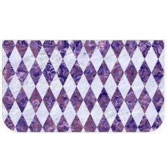 Diamond1 White Marble & Purple Marble Lunch Bag