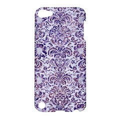 Damask2 White Marble & Purple Marble (r) Apple Ipod Touch 5 Hardshell Case by trendistuff