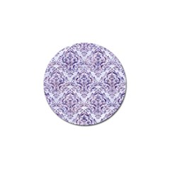 Damask1 White Marble & Purple Marble (r) Golf Ball Marker by trendistuff