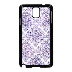 Damask1 White Marble & Purple Marble (r) Samsung Galaxy Note 3 Neo Hardshell Case (black) by trendistuff