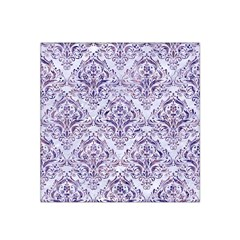 Damask1 White Marble & Purple Marble (r) Satin Bandana Scarf by trendistuff