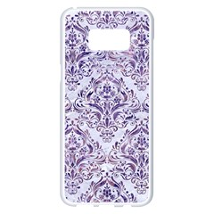 Damask1 White Marble & Purple Marble (r) Samsung Galaxy S8 Plus White Seamless Case by trendistuff