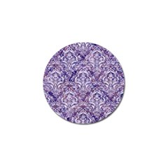 Damask1 White Marble & Purple Marble Golf Ball Marker (4 Pack) by trendistuff