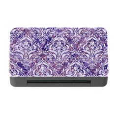 Damask1 White Marble & Purple Marble Memory Card Reader With Cf by trendistuff