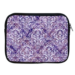 Damask1 White Marble & Purple Marble Apple Ipad 2/3/4 Zipper Cases by trendistuff