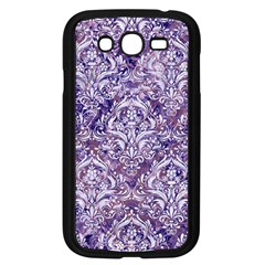 Damask1 White Marble & Purple Marble Samsung Galaxy Grand Duos I9082 Case (black) by trendistuff