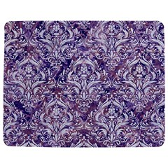 Damask1 White Marble & Purple Marble Jigsaw Puzzle Photo Stand (rectangular) by trendistuff