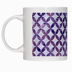 Circles3 White Marble & Purple Marble (r) White Mugs by trendistuff