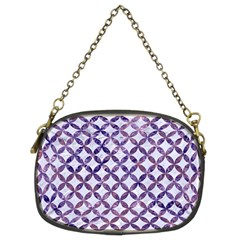 Circles3 White Marble & Purple Marble (r) Chain Purses (two Sides)  by trendistuff