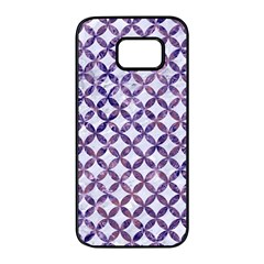 Circles3 White Marble & Purple Marble (r) Samsung Galaxy S7 Edge Black Seamless Case by trendistuff