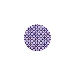 Circles3 White Marble & Purple Marble 1  Mini Buttons by trendistuff