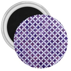Circles3 White Marble & Purple Marble 3  Magnets by trendistuff