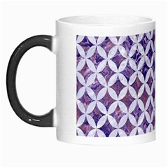 Circles3 White Marble & Purple Marble Morph Mugs by trendistuff