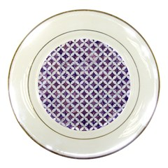 Circles3 White Marble & Purple Marble Porcelain Plates by trendistuff