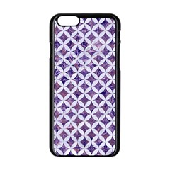 Circles3 White Marble & Purple Marble Apple Iphone 6/6s Black Enamel Case by trendistuff