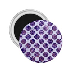 Circles2 White Marble & Purple Marble (r) 2 25  Magnets by trendistuff