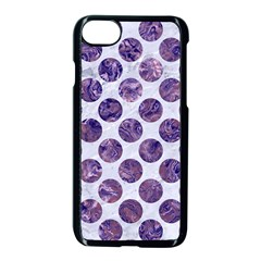 Circles2 White Marble & Purple Marble (r) Apple Iphone 8 Seamless Case (black) by trendistuff