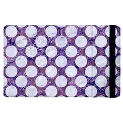 Circles2 White Marble & Purple Marble Apple Ipad Pro 9 7   Flip Case by trendistuff