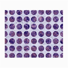 Circles1 White Marble & Purple Marble (r) Small Glasses Cloth by trendistuff