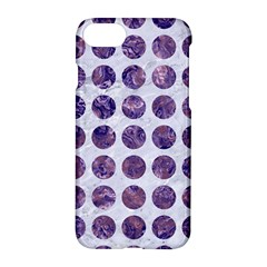 Circles1 White Marble & Purple Marble (r) Apple Iphone 8 Hardshell Case