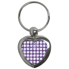 Circles1 White Marble & Purple Marble Key Chains (heart)  by trendistuff