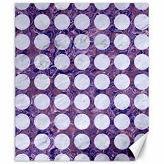 Circles1 White Marble & Purple Marble Canvas 20  X 24   by trendistuff