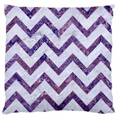 Chevron9 White Marble & Purple Marble (r) Standard Flano Cushion Case (one Side) by trendistuff