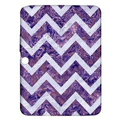 Chevron9 White Marble & Purple Marble Samsung Galaxy Tab 3 (10 1 ) P5200 Hardshell Case  by trendistuff