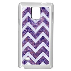 Chevron9 White Marble & Purple Marble Samsung Galaxy Note 4 Case (white) by trendistuff