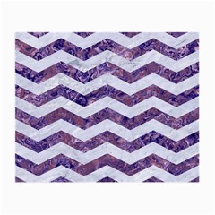 Chevron3 White Marble & Purple Marble Small Glasses Cloth by trendistuff