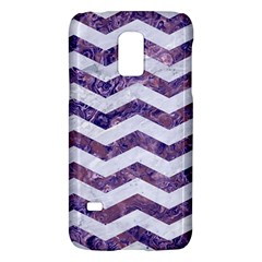 Chevron3 White Marble & Purple Marble Galaxy S5 Mini by trendistuff