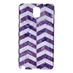 Chevron2 White Marble & Purple Marble Samsung Galaxy Note 3 N9005 Hardshell Case by trendistuff