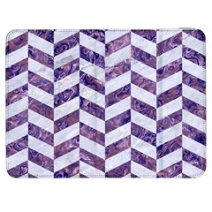 Chevron1 White Marble & Purple Marble Samsung Galaxy Tab 7  P1000 Flip Case by trendistuff