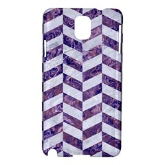 Chevron1 White Marble & Purple Marble Samsung Galaxy Note 3 N9005 Hardshell Case by trendistuff