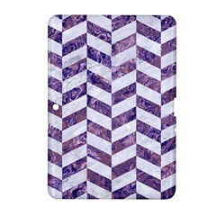 Chevron1 White Marble & Purple Marble Samsung Galaxy Tab 2 (10 1 ) P5100 Hardshell Case