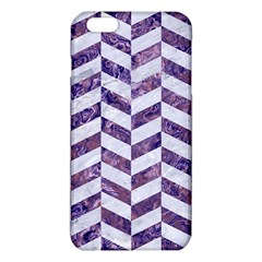 Chevron1 White Marble & Purple Marble Iphone 6 Plus/6s Plus Tpu Case by trendistuff