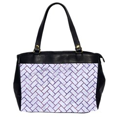 Brick2 White Marble & Purple Marble (r) Office Handbags (2 Sides)  by trendistuff