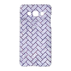 Brick2 White Marble & Purple Marble (r) Samsung Galaxy A5 Hardshell Case  by trendistuff