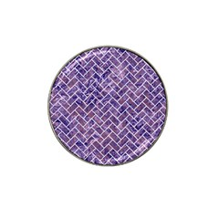 Brick2 White Marble & Purple Marble Hat Clip Ball Marker (4 Pack) by trendistuff